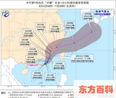 今年第9号台风卢碧生成 台风卢碧会影响哪些地区(台风)