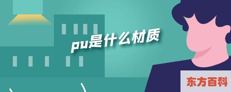 pu是什么材质(pu是什么材质好不好)插图