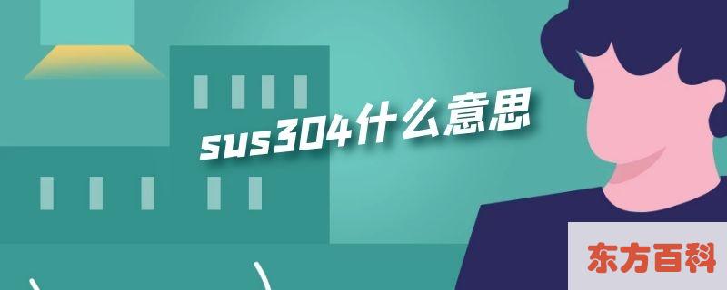 sus304什么意思插图
